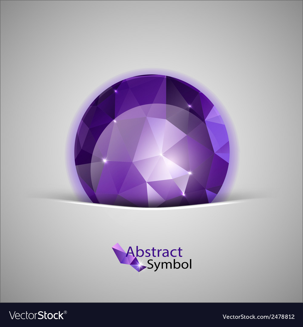 Triangles ball purple vector | Price: 1 Credit (USD $1)