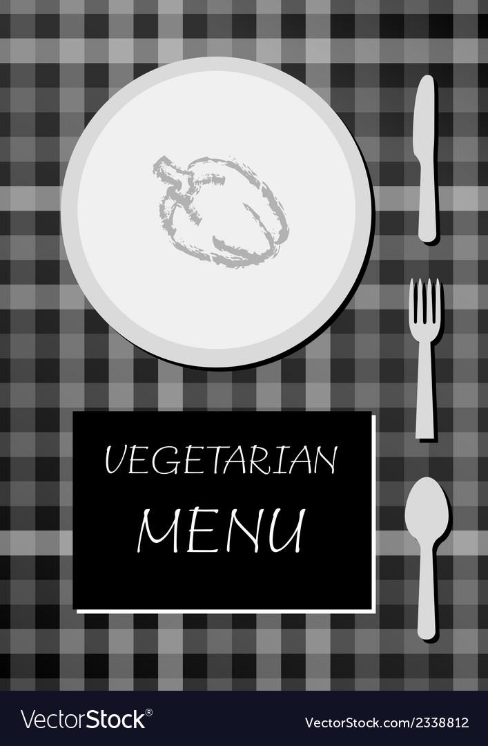 Vegetarian menu vector | Price: 1 Credit (USD $1)
