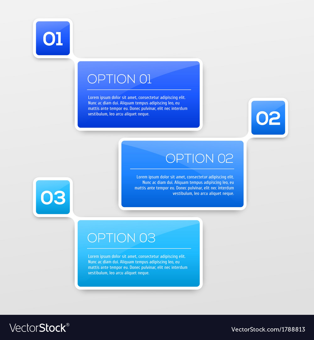 Abstract 3d infographics vector | Price: 1 Credit (USD $1)