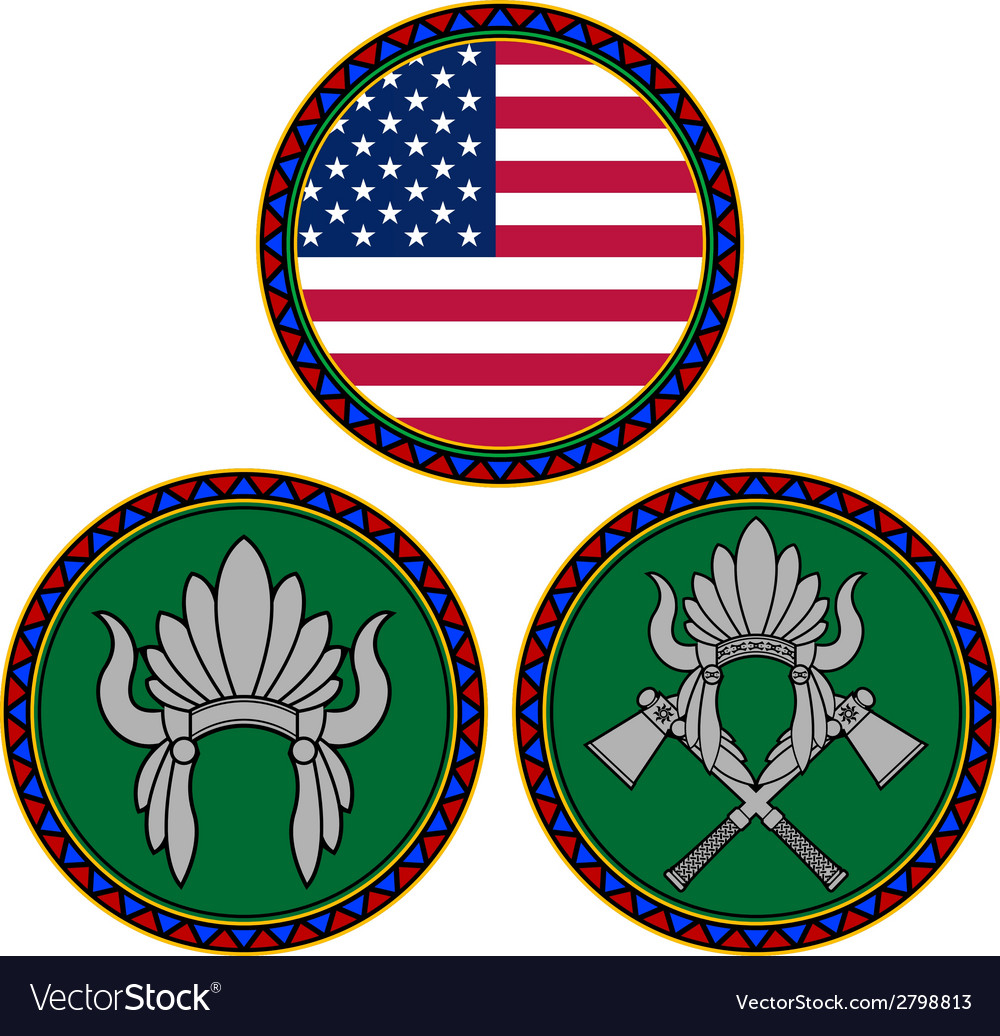 American flag and indian headdress vector | Price: 1 Credit (USD $1)