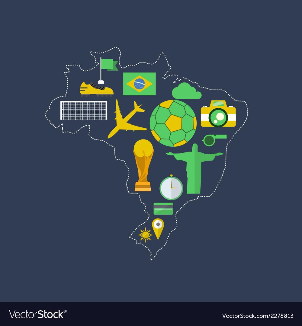 Brazil worldcup event flat design vector   Price: 1 Credit (USD $1)