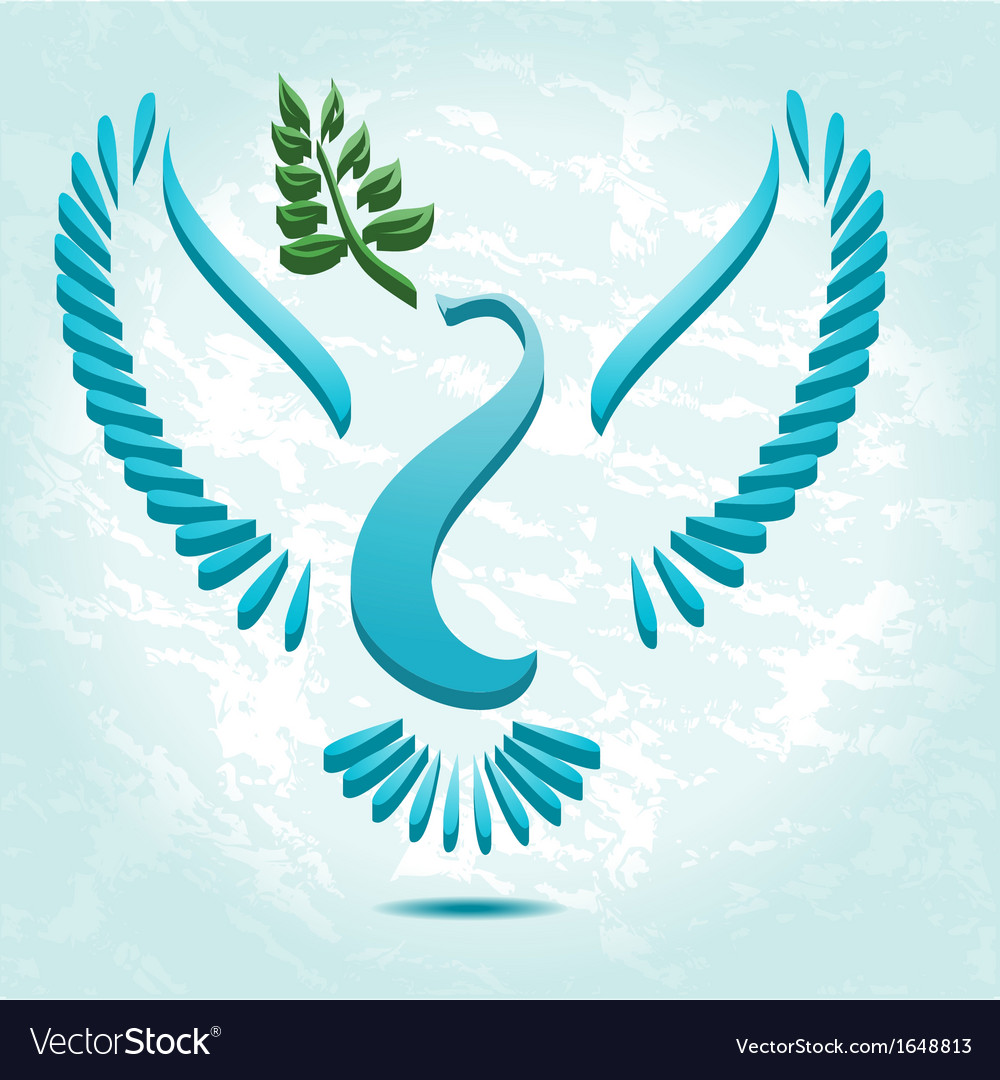 Dove with olive branch vector | Price: 1 Credit (USD $1)