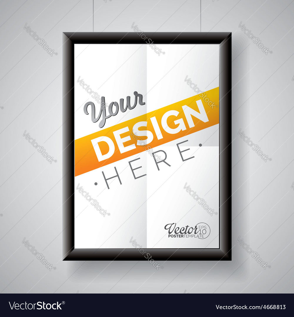 Poster frame template of a folded paper sheet vector | Price: 5 Credit (USD $5)