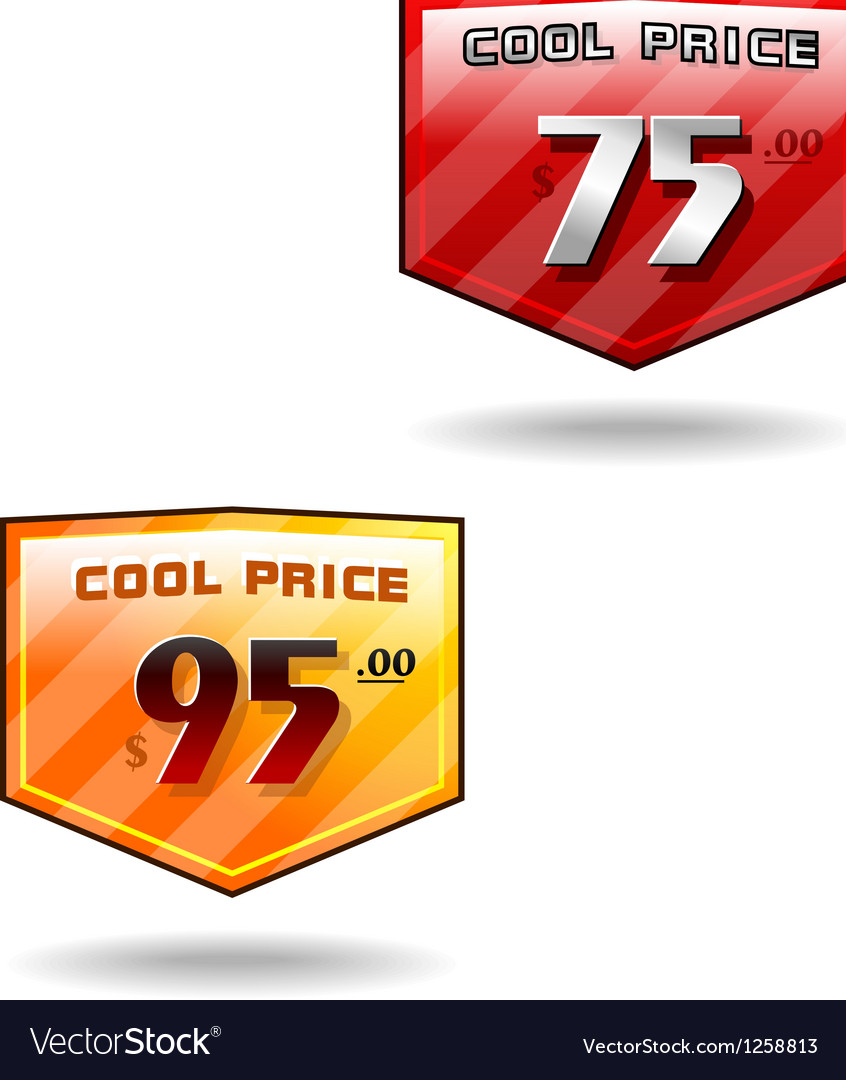 Price badge shields vector | Price: 1 Credit (USD $1)