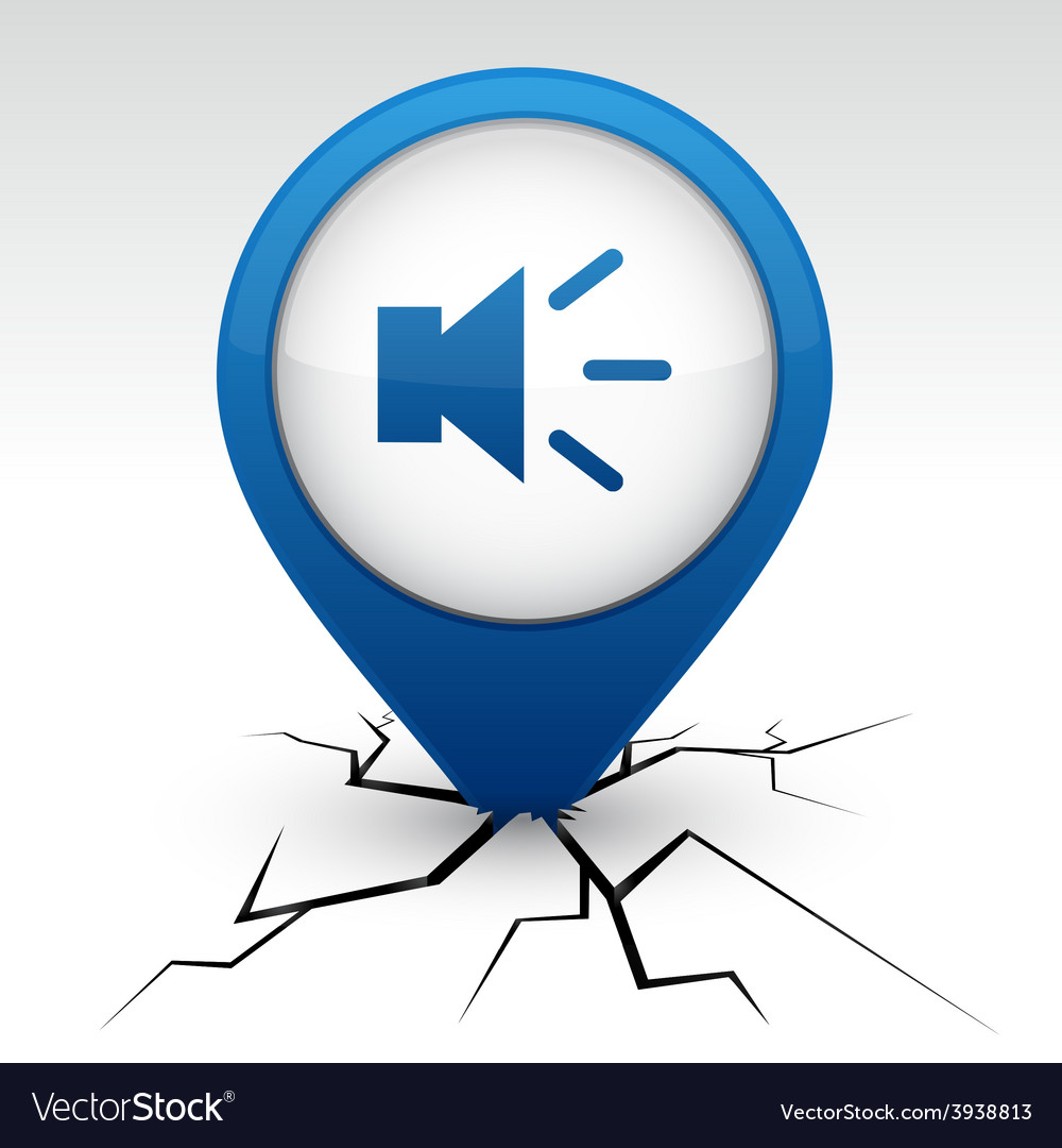 Sound blue icon in crack vector | Price: 1 Credit (USD $1)