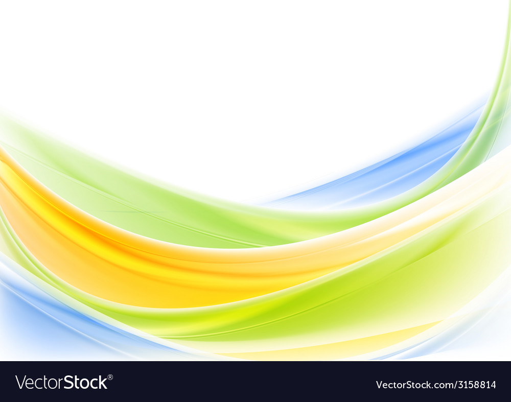 Bright colorful shiny waves design vector | Price: 1 Credit (USD $1)