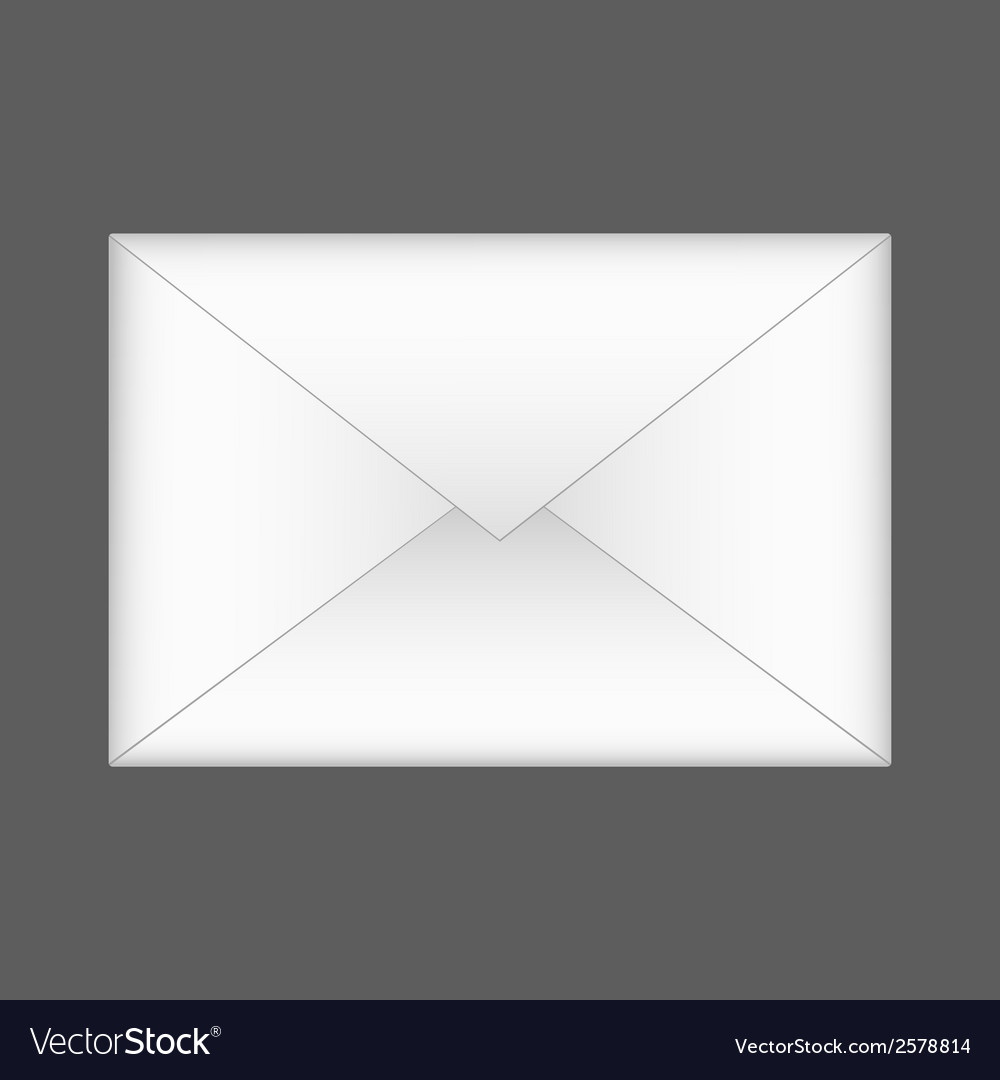 Envelope on gray background eps 10 vector | Price: 1 Credit (USD $1)