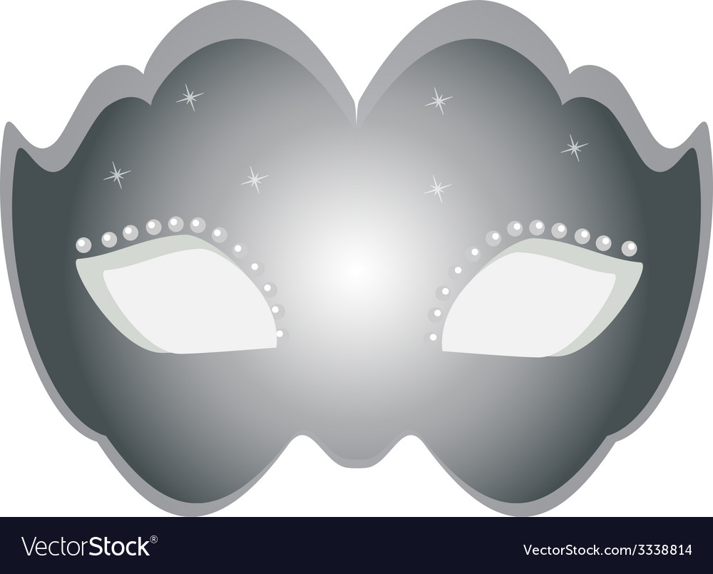 Mask silver vector | Price: 1 Credit (USD $1)