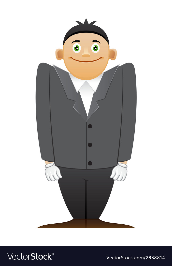 Modest office man vector | Price: 1 Credit (USD $1)