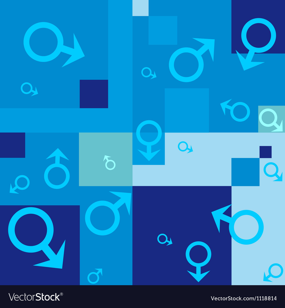 Seamless background with male symbols vector | Price: 1 Credit (USD $1)