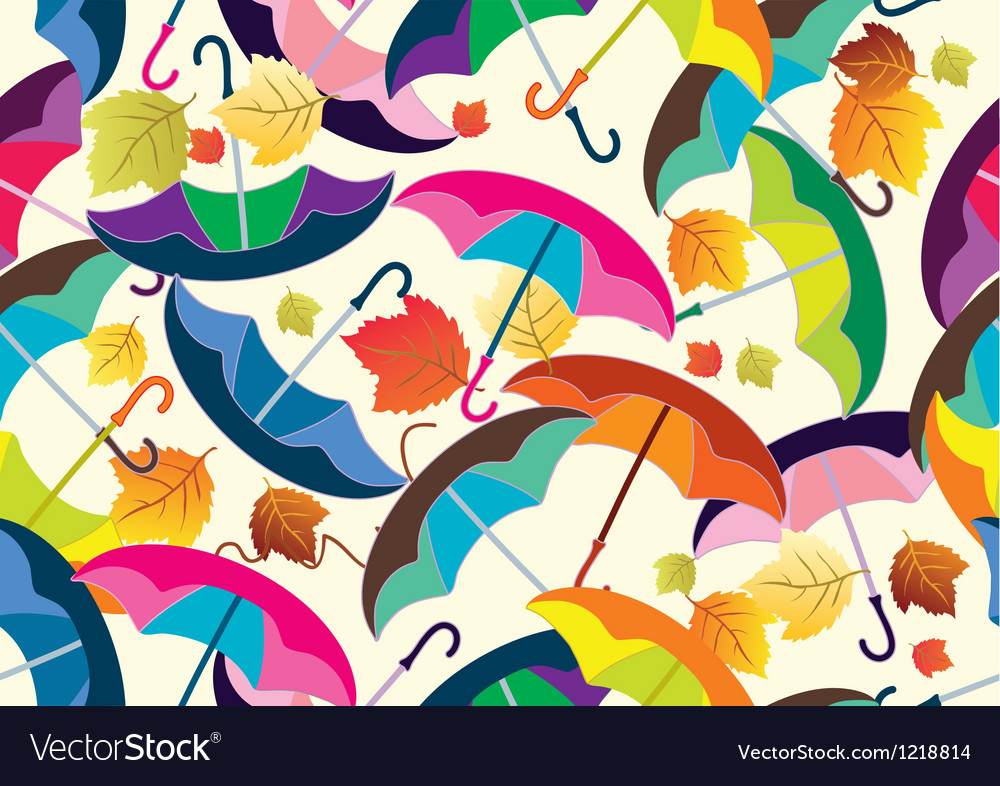 Seamless background with umbrella vector | Price: 1 Credit (USD $1)