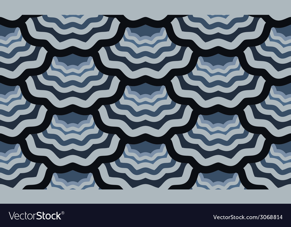 Seamless scale wavy pattern vector | Price: 1 Credit (USD $1)