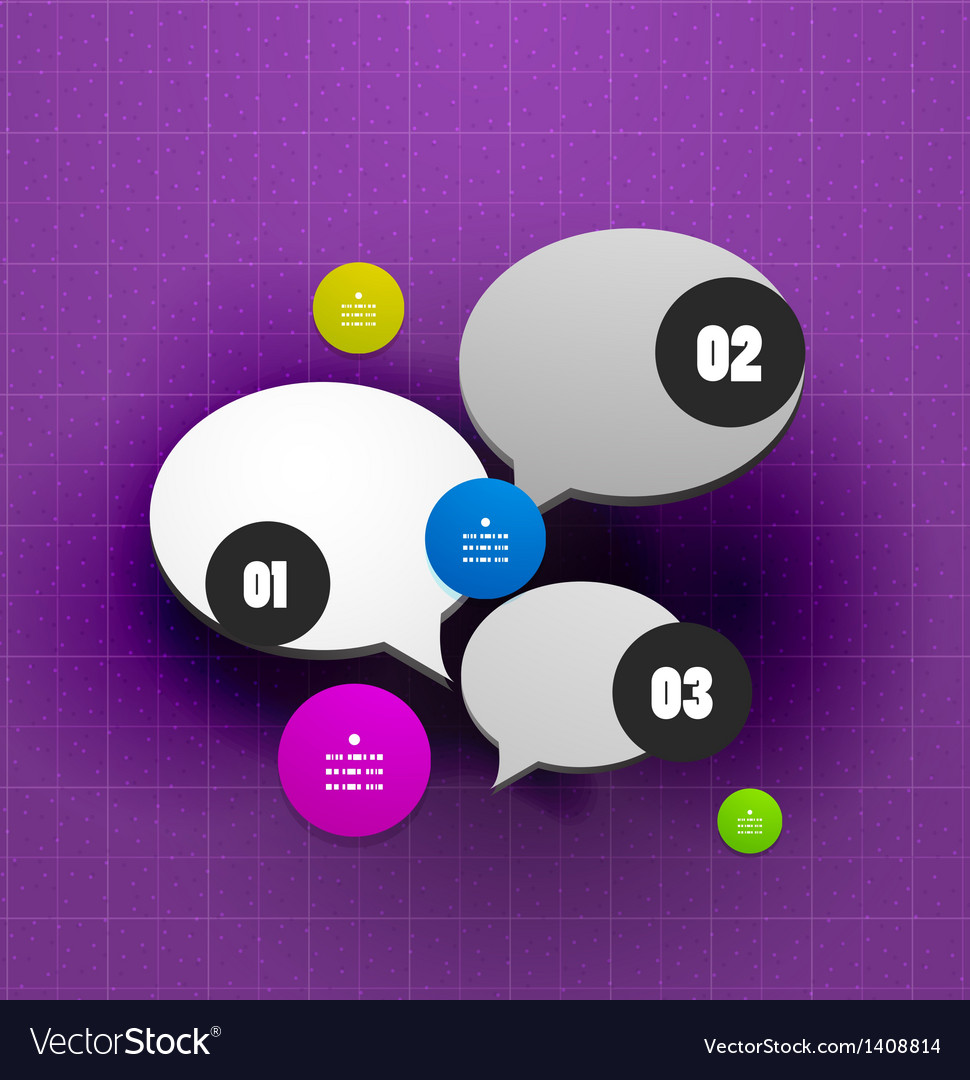 Speech bubble steps option banner template vector   Price: 1 Credit (USD $1)