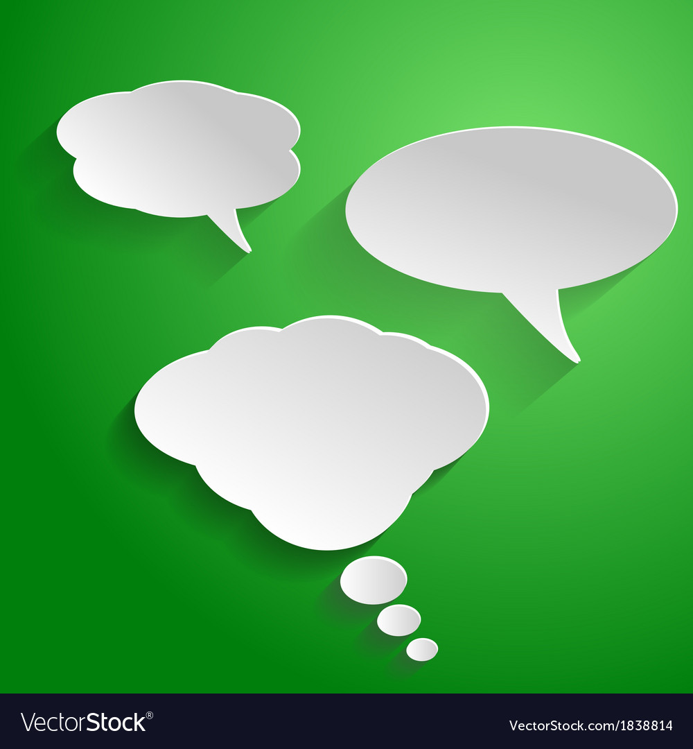 Speech bubble vector | Price: 1 Credit (USD $1)