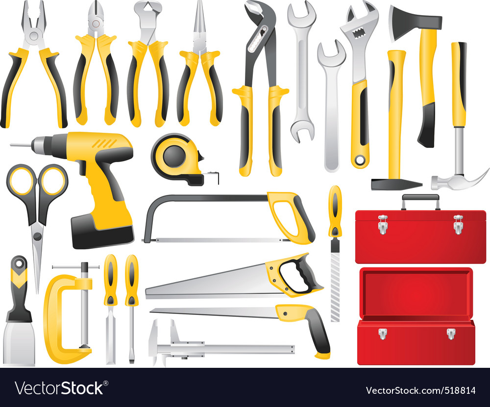 Tools vector | Price: 3 Credit (USD $3)