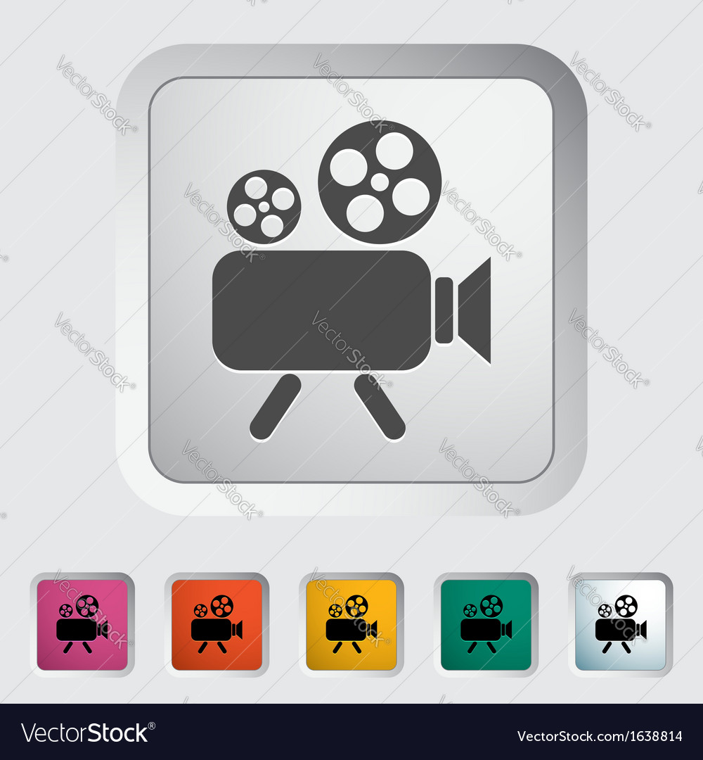 Videocam vector | Price: 1 Credit (USD $1)