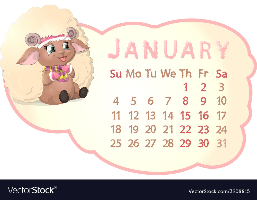 Beautiful calendar vector | Price: 1 Credit (USD $1)