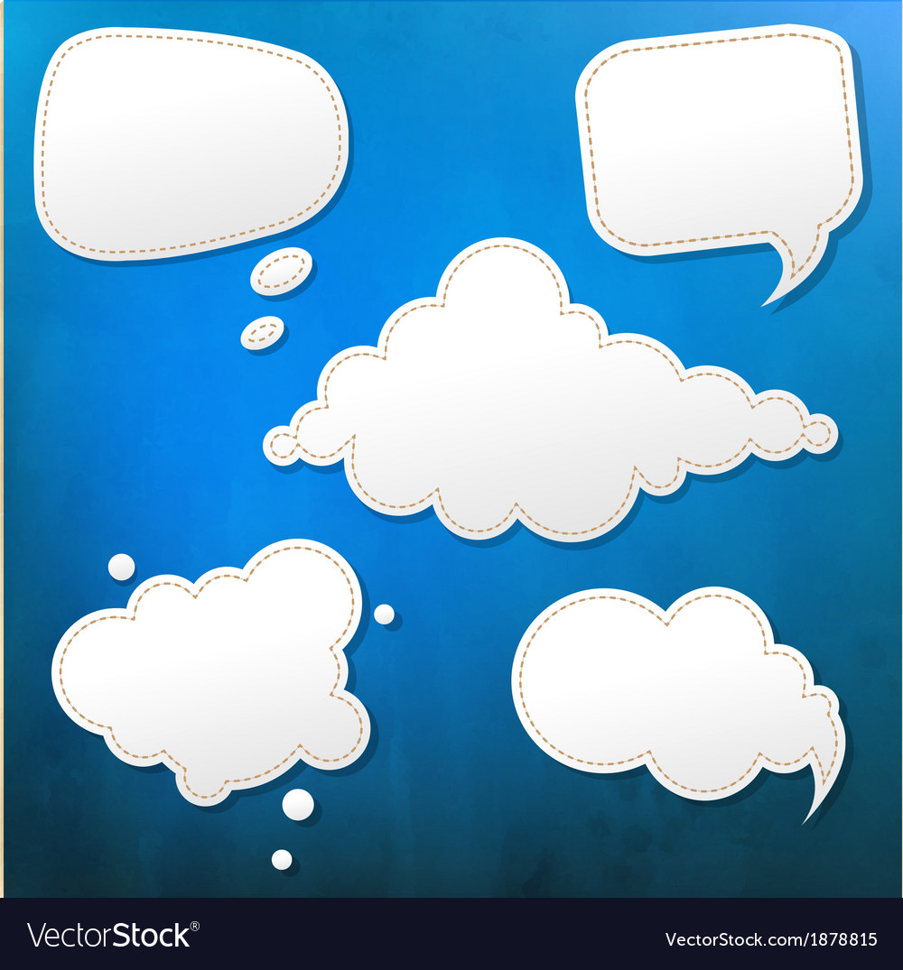 Blue grunge texture with speech bubble vector | Price: 1 Credit (USD $1)