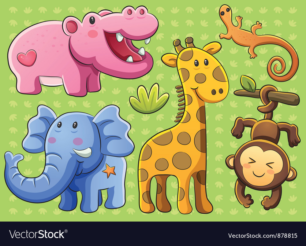 Cute animals collection vector | Price: 3 Credit (USD $3)