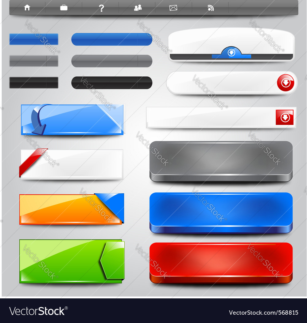 Glossy web collection vector | Price: 1 Credit (USD $1)