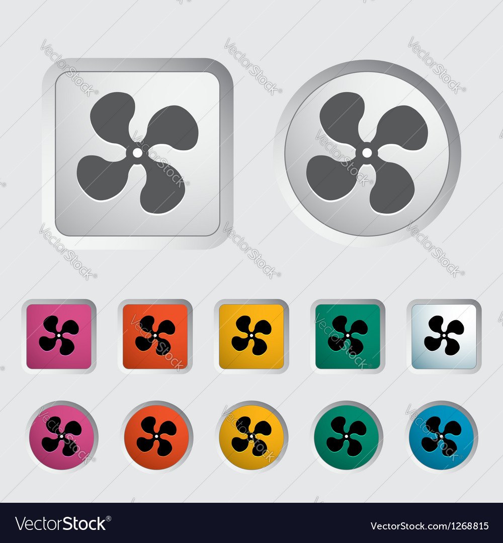 Icon fan vector | Price: 1 Credit (USD $1)