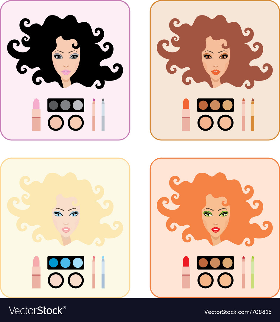 Make-up for women vector | Price: 1 Credit (USD $1)