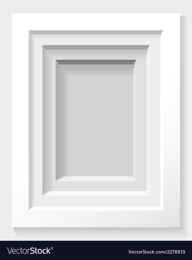 Recess in the white wall as a frame2 vector | Price: 1 Credit (USD $1)