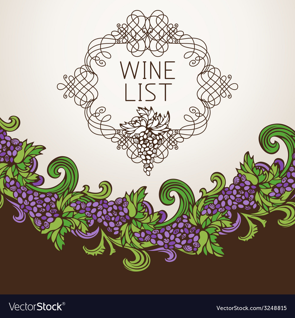 Wine list design vector | Price: 1 Credit (USD $1)