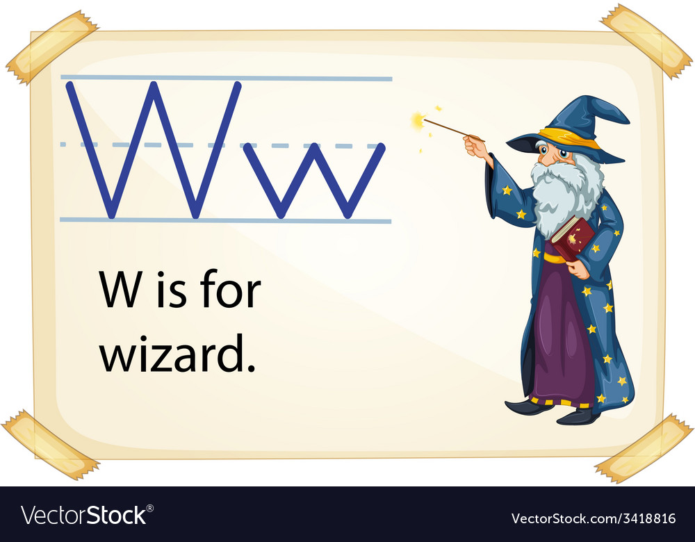 A letter w for wizard vector | Price: 1 Credit (USD $1)