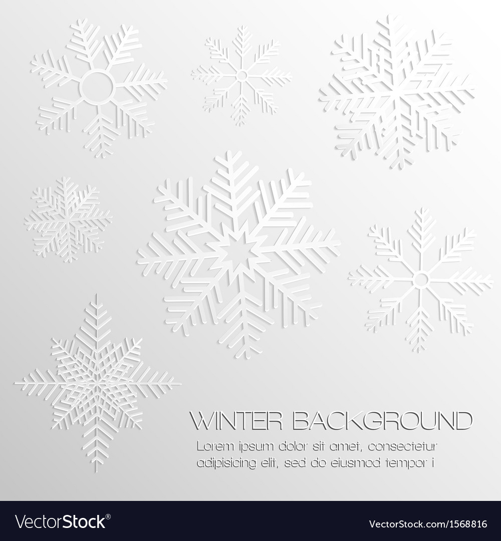 Abstract background with paper snowflakes vector | Price: 1 Credit (USD $1)