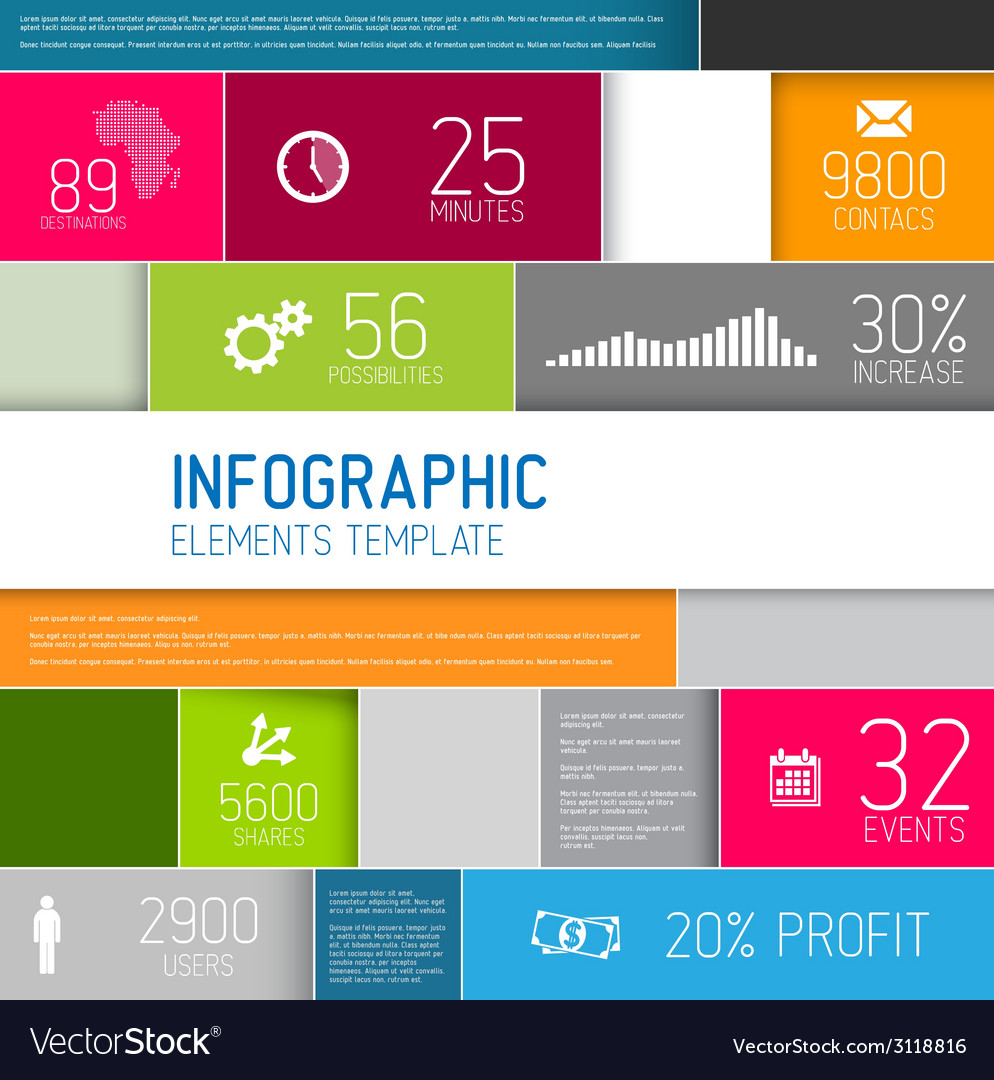 Abstract rectangles infographic template vector   Price: 1 Credit (USD $1)