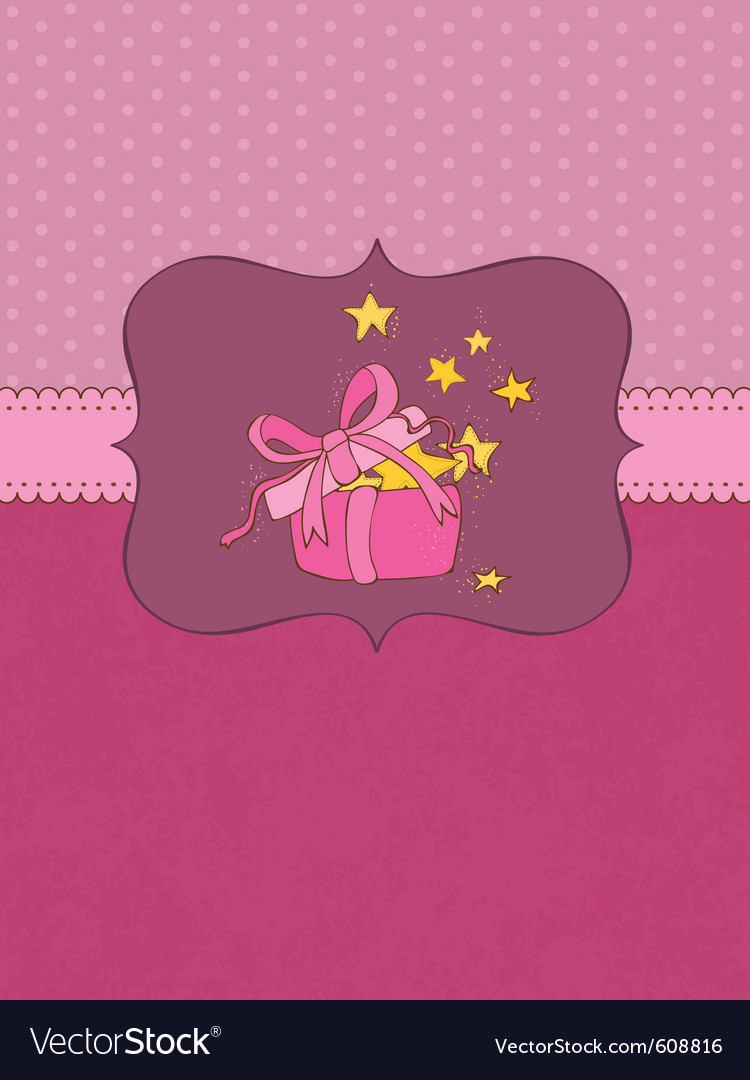 Baby birthday card with photo frame and place for vector | Price: 1 Credit (USD $1)
