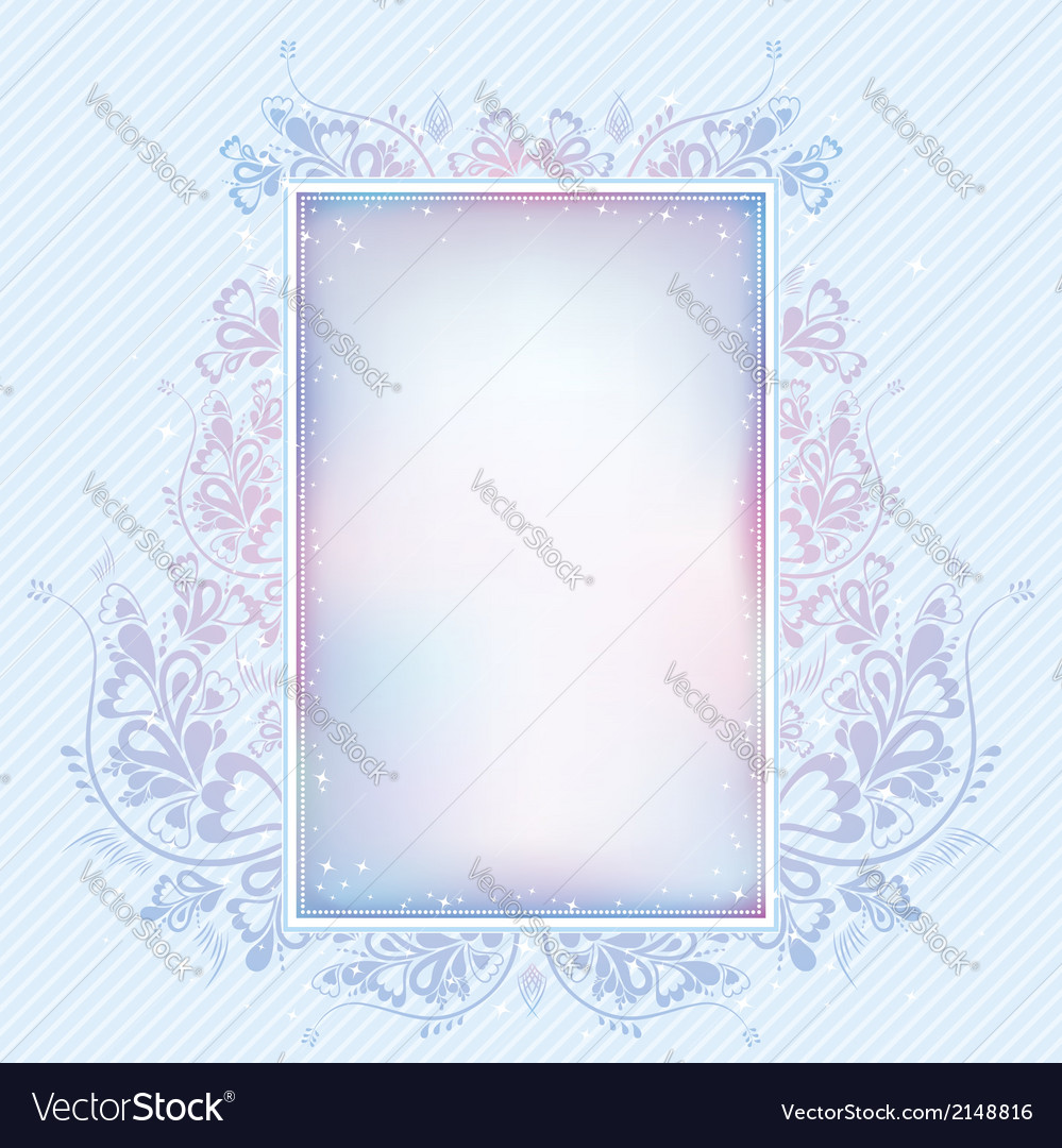 Blue background with lovely decorative ornament vector | Price: 1 Credit (USD $1)