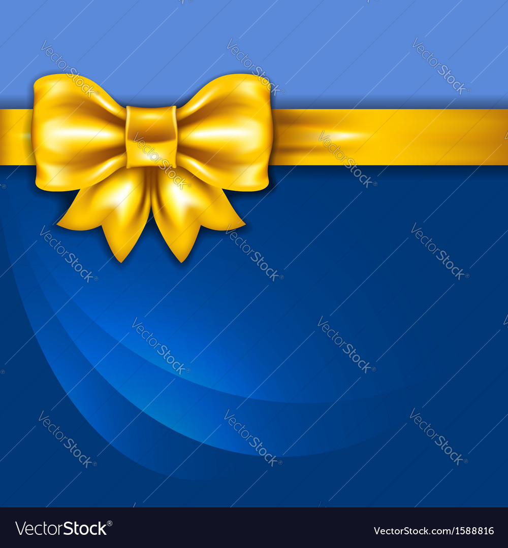 Golden bow 1 vector | Price: 1 Credit (USD $1)