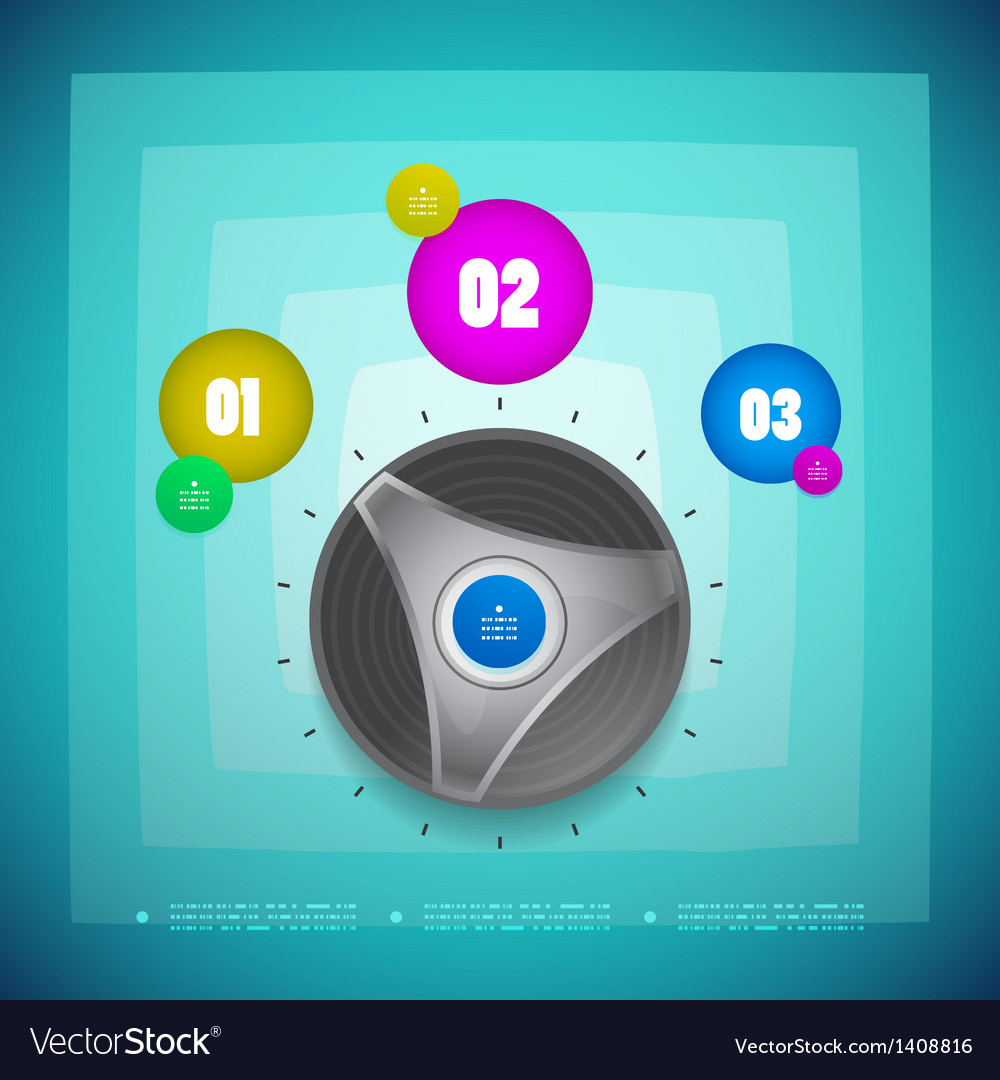 Knob option switch modern template vector | Price: 1 Credit (USD $1)