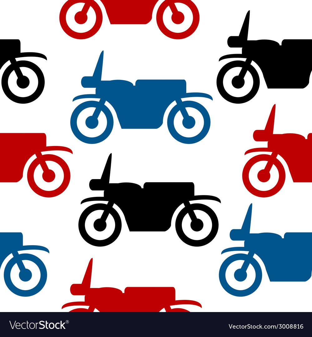 Motorcycle seamless pattern vector | Price: 1 Credit (USD $1)