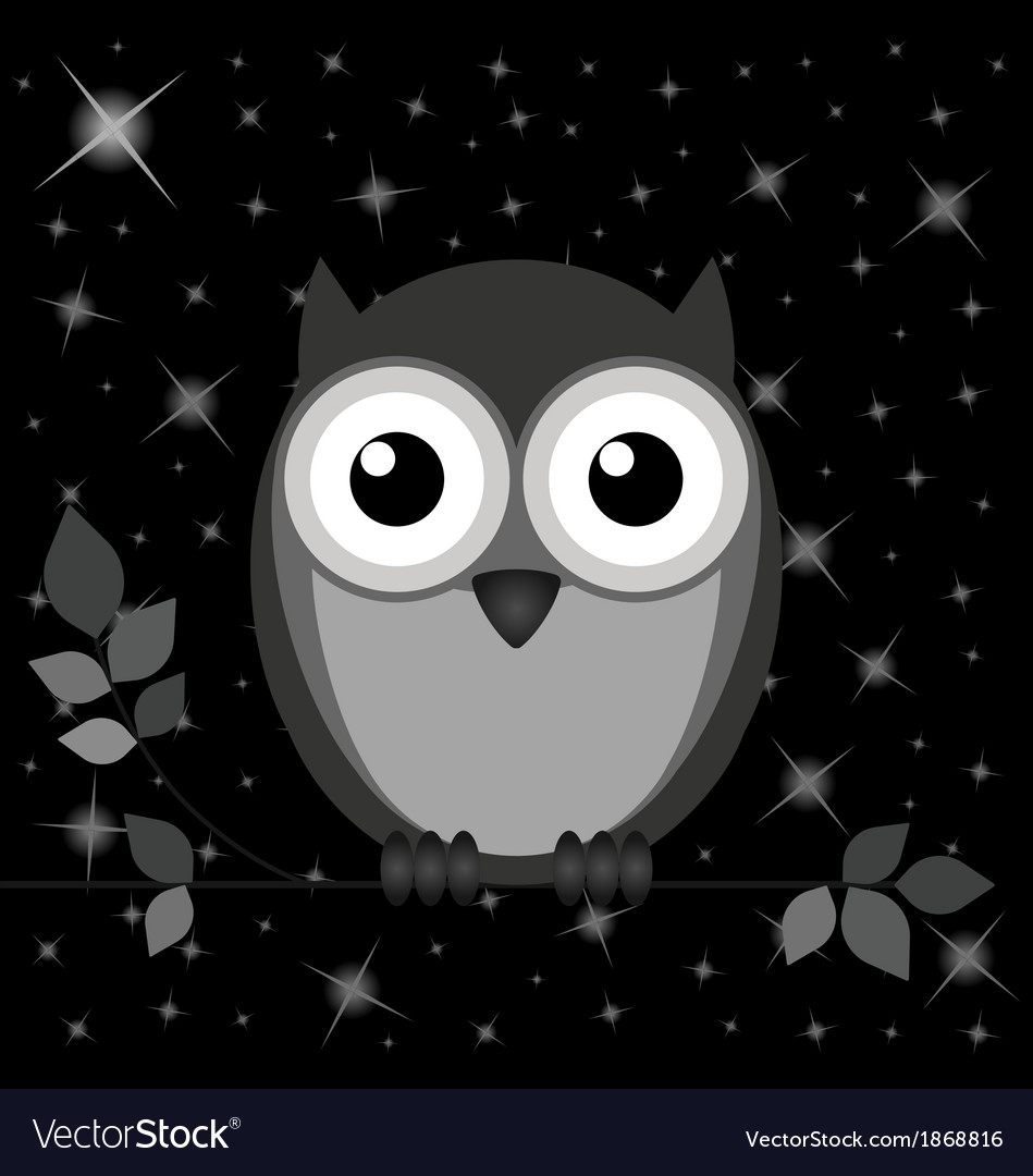 Owl stars vector | Price: 1 Credit (USD $1)