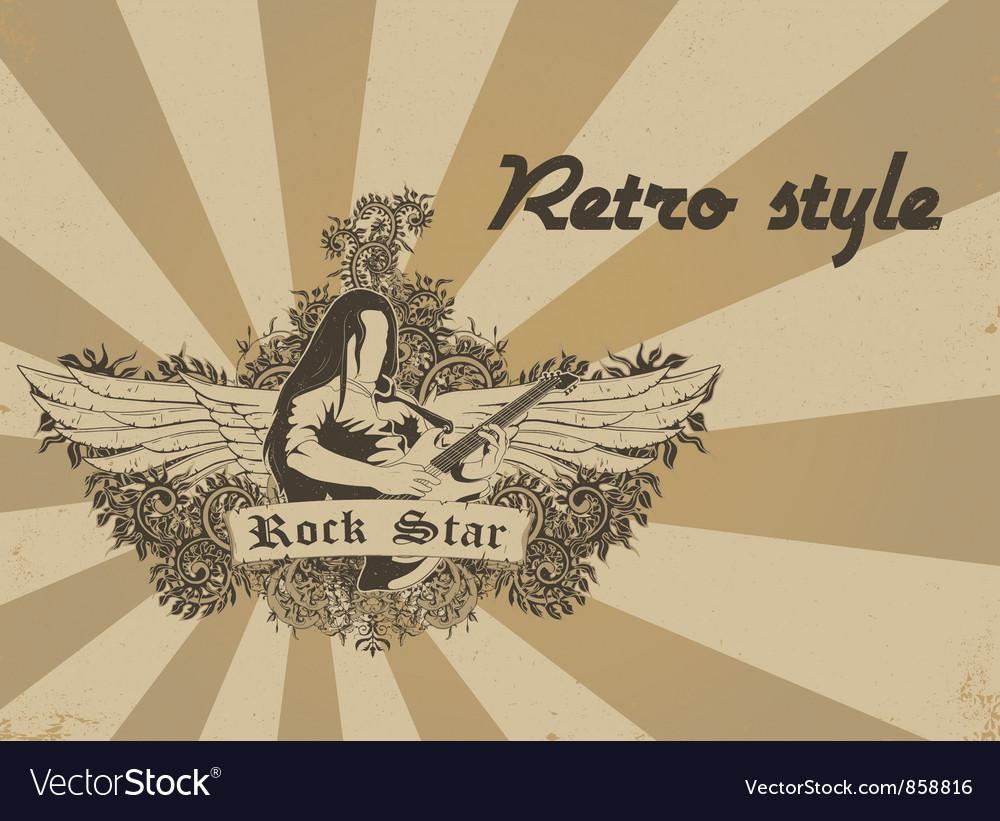 Retro poster vector | Price: 1 Credit (USD $1)