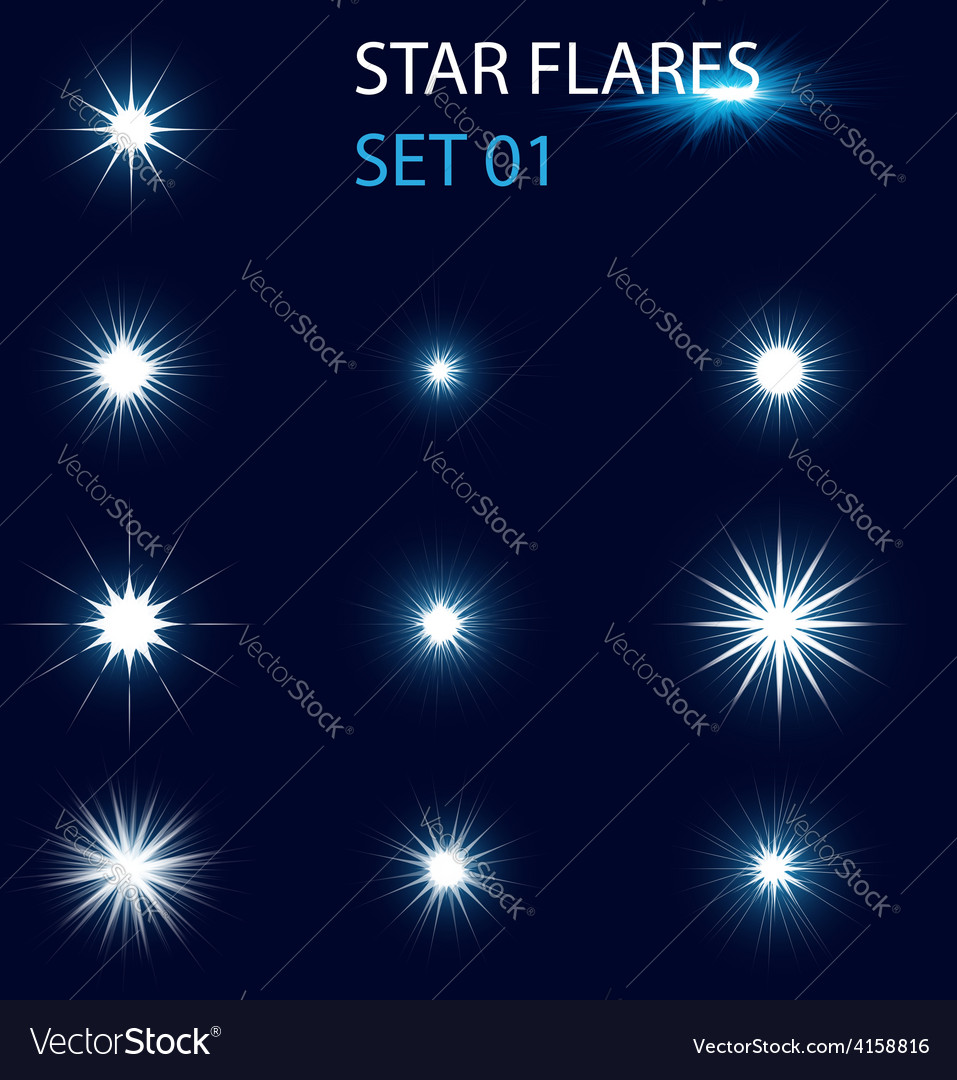 Star flares vector | Price: 1 Credit (USD $1)