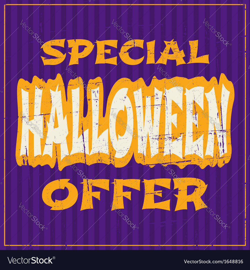 Typographic design halloween sale poster vector | Price: 1 Credit (USD $1)