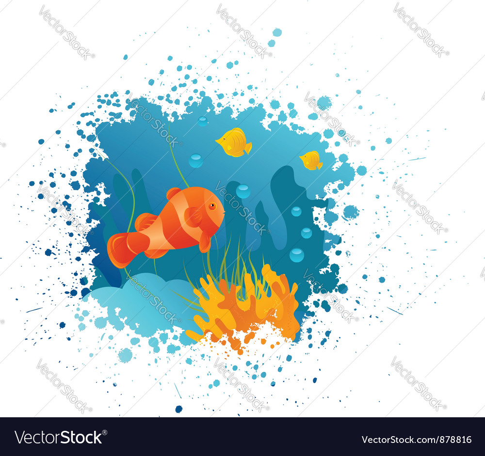 Underwater grunge vector | Price: 1 Credit (USD $1)