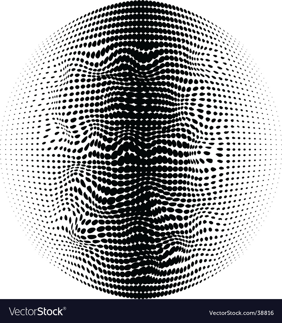Warped halftone vector | Price: 1 Credit (USD $1)