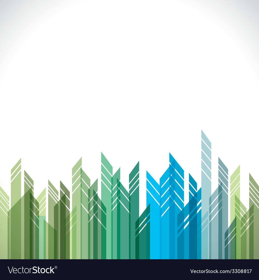 Abstract green and blue cityscape stock vector | Price: 1 Credit (USD $1)