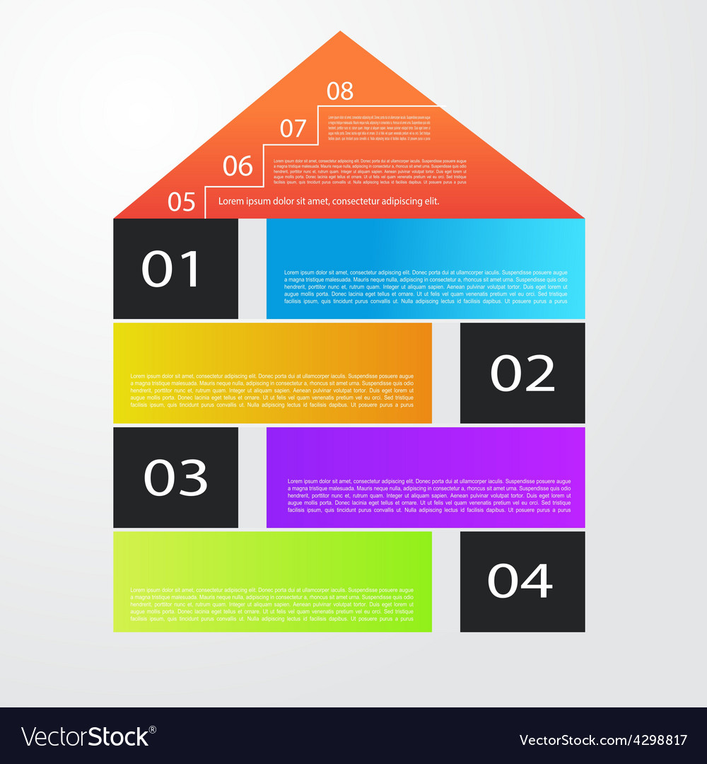 City banner with colorful icons infographics vector | Price: 1 Credit (USD $1)