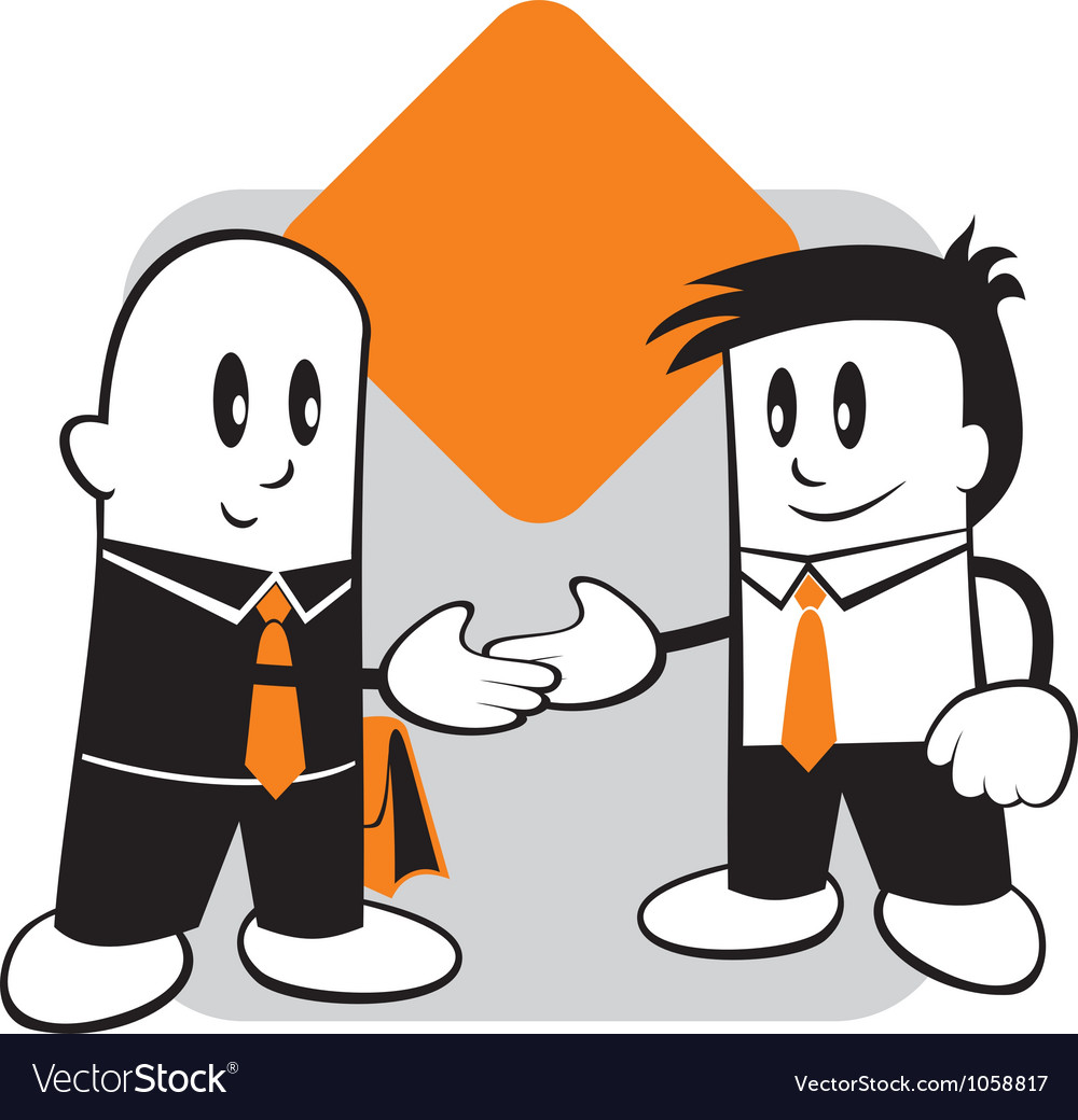 Handshake and agreement vector | Price: 1 Credit (USD $1)