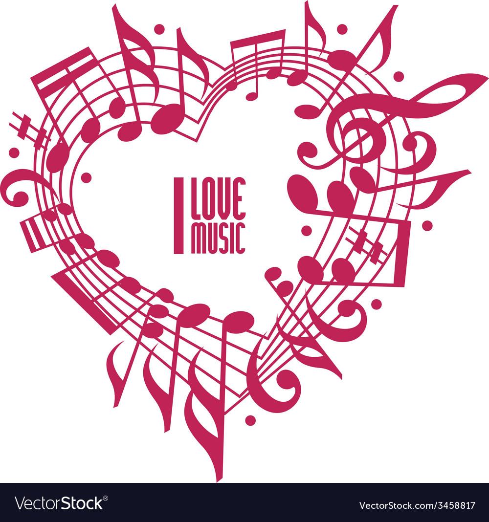 I love music concept single color design vector | Price: 1 Credit (USD $1)