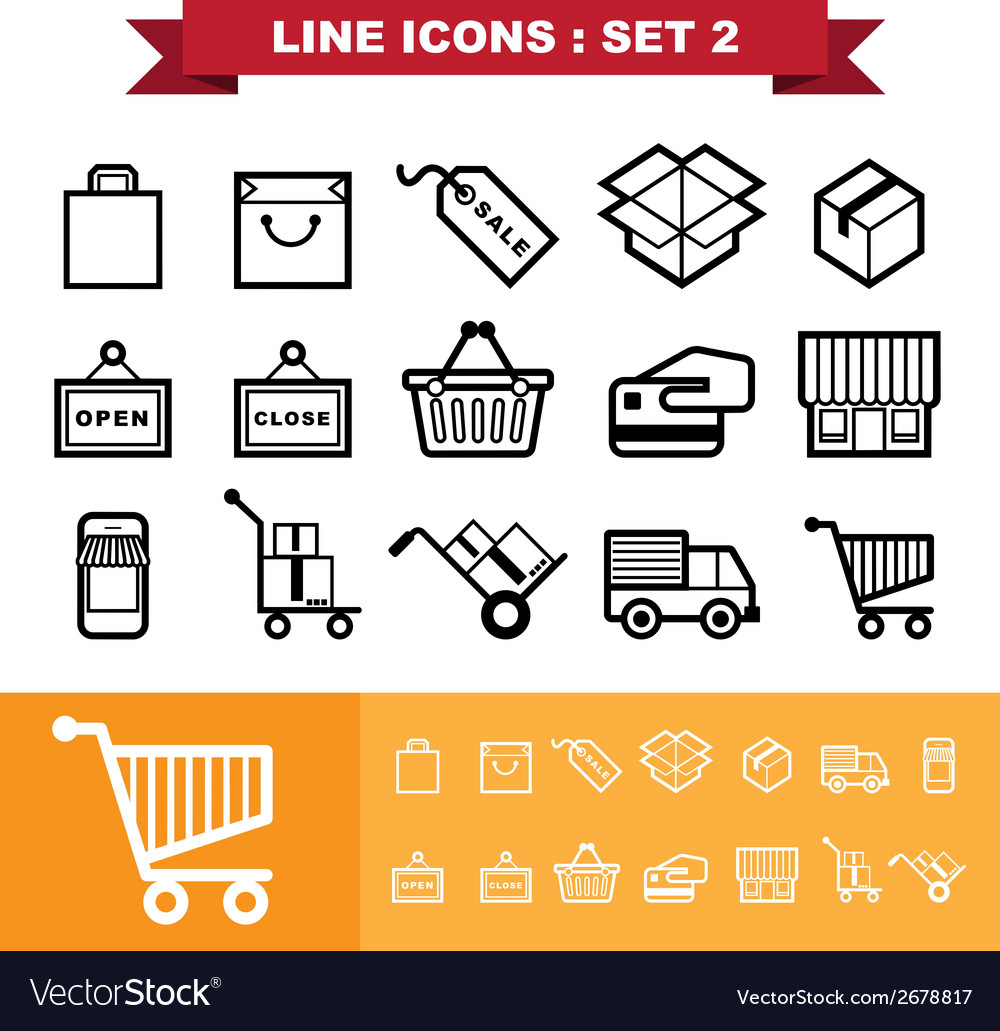 Line icons set 2 vector | Price: 1 Credit (USD $1)