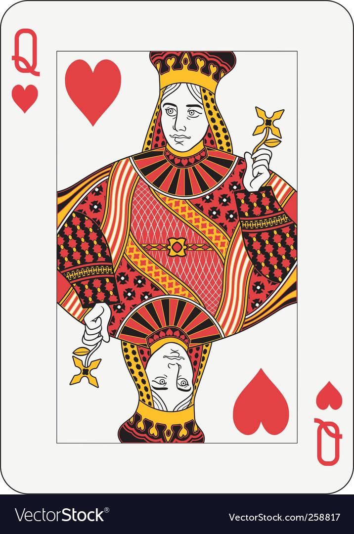 Queen of hearts vector   Price: 1 Credit (USD $1)
