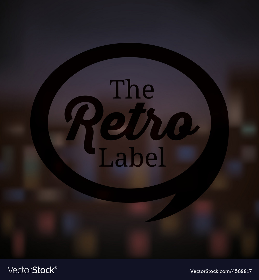Retro and vintage label vector | Price: 1 Credit (USD $1)
