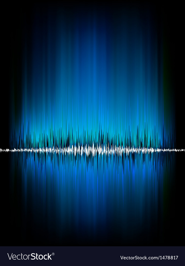 Sound waves oscillating on black eps 8 vector | Price: 1 Credit (USD $1)